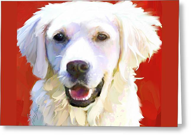 Golden Retriever 5 Greeting Card by Jackie Jacobson
