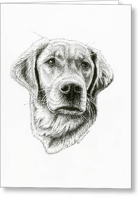 Golden Retriever Bliss Greeting Card