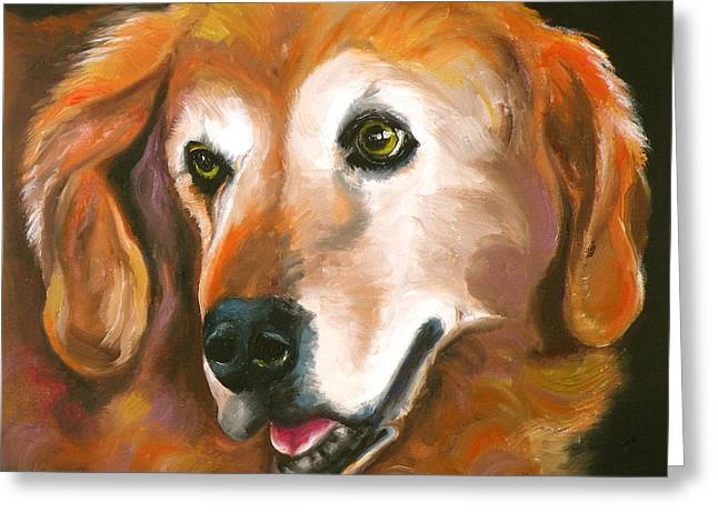 Golden Retriever Fur Child Greeting Card by Susan A Becker