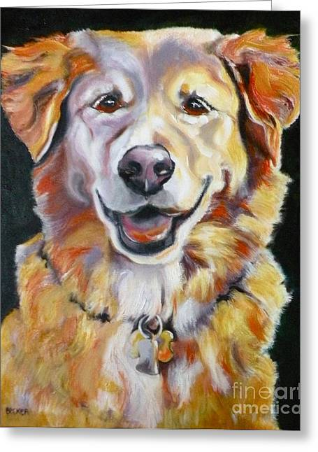 Golden Retriever Most Huggable Greeting Card by Susan A Becker