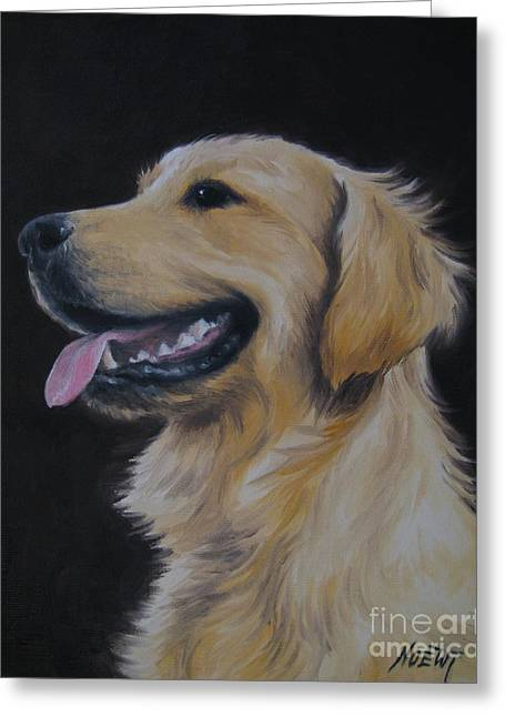 Golden Retriever Nr. 3 Greeting Card by Jindra Noewi
