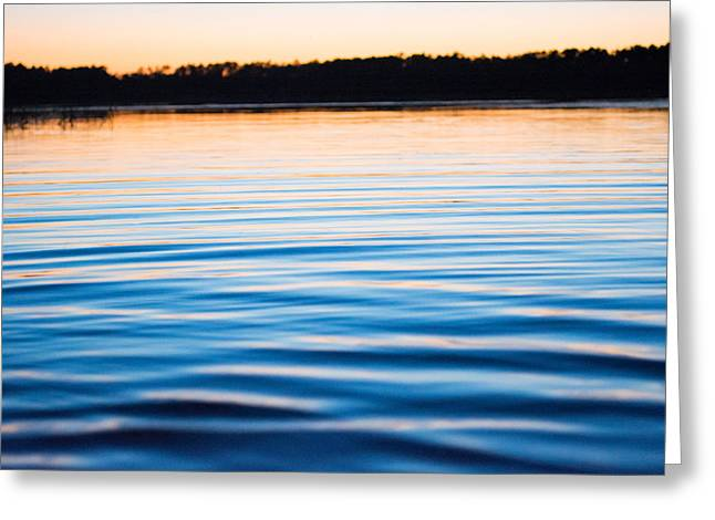 Golden Ripples Greeting Card by Parker Cunningham