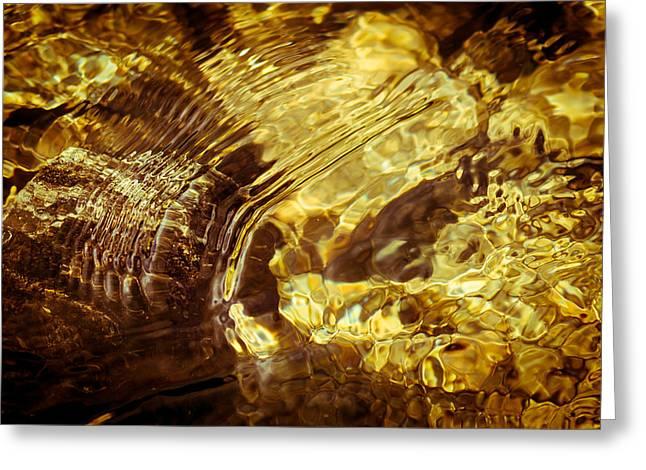 Golden Ripples Greeting Card