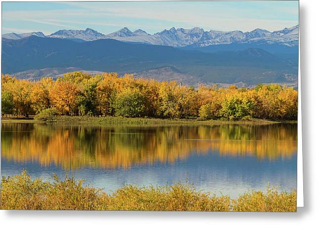 Golden Rocky Mountain Front Range View Greeting Card