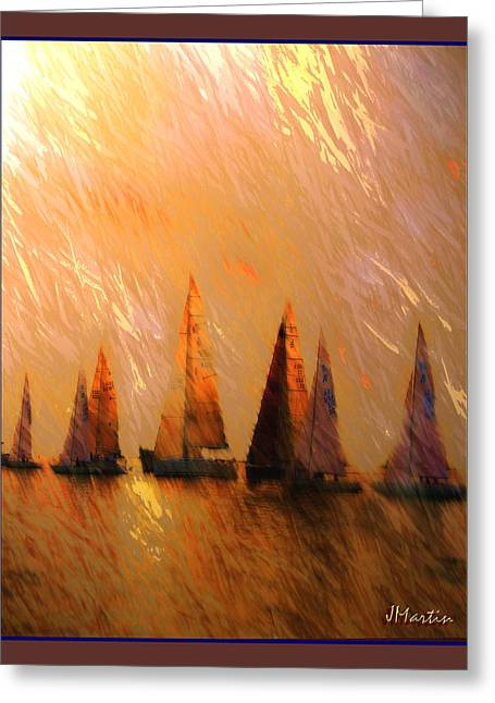 Golden Sail Greeting Card by Joseph Martin