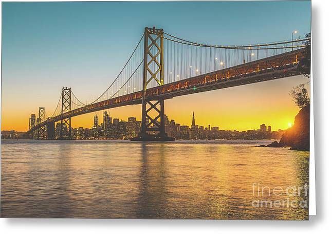 Golden San Francisco Greeting Card by JR Photography