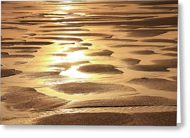Outgoing Tide Greeting Cards - Golden Sands Greeting Card by Roupen  Baker