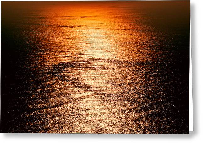 Golden Sea In Alanya Greeting Card