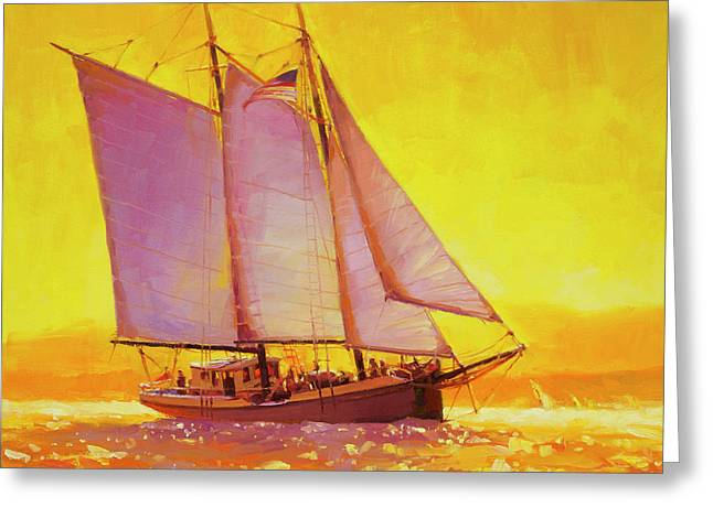Golden Sea Greeting Card by Steve Henderson