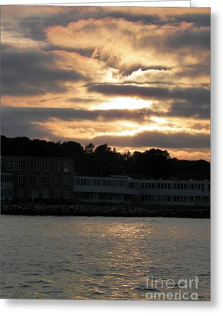 Golden Sky Of Plymouth 5 Greeting Card by Gina Sullivan