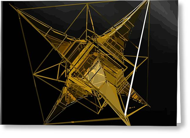 Golden Space Craft Greeting Card