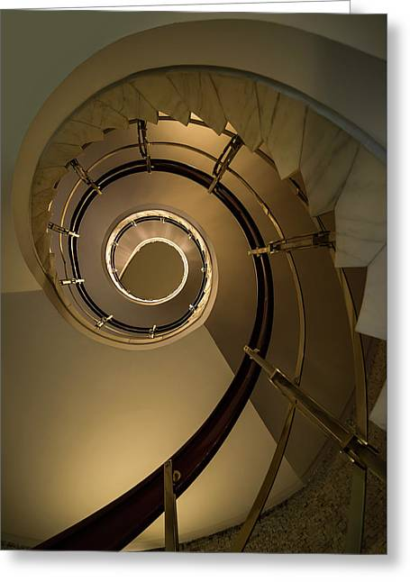 Golden Spiral Staircase Greeting Card