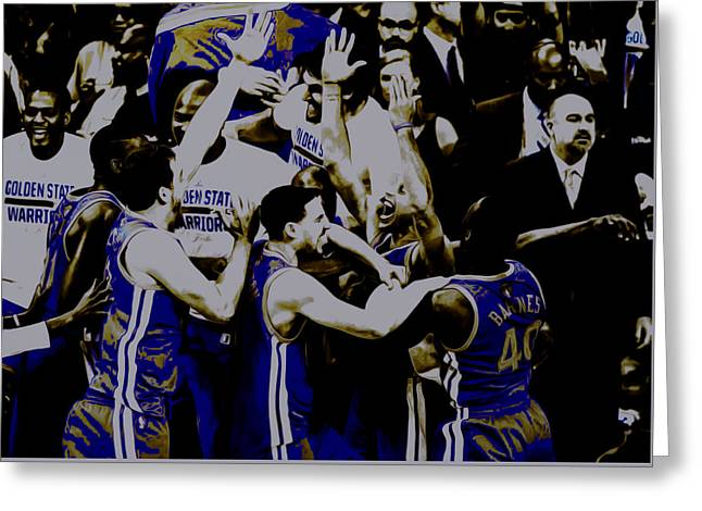 Golden State Warriors 2015 Finals Greeting Card by Brian Reaves