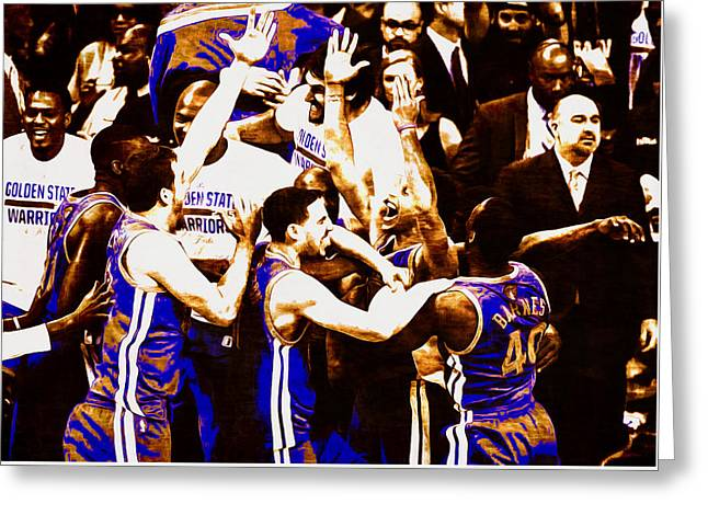 Golden State Warriors 2015 Nba Finals Greeting Card by Brian Reaves