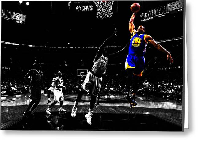 Golden State Warriors Andre Iguodala  Greeting Card by Brian Reaves