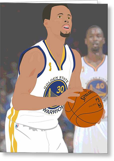 Golden State Warriors - Stephen Curry - 2015 Greeting Card by Troy Arthur Graphics