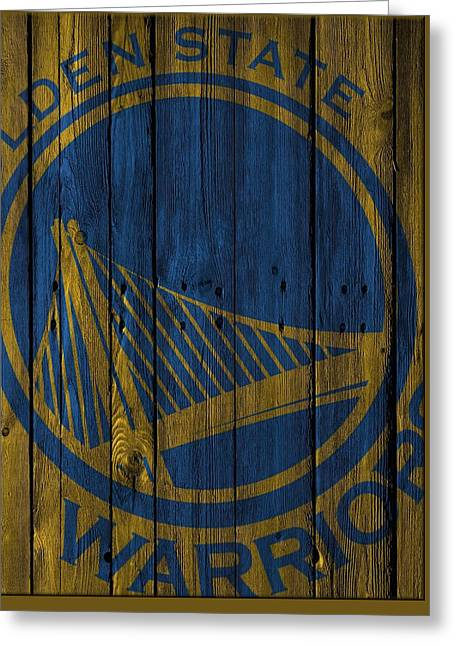 Golden State Warriors Wood Fence Greeting Card