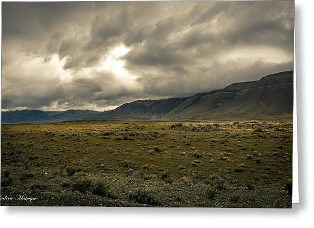 Golden Storm Greeting Card by Andrew Matwijec