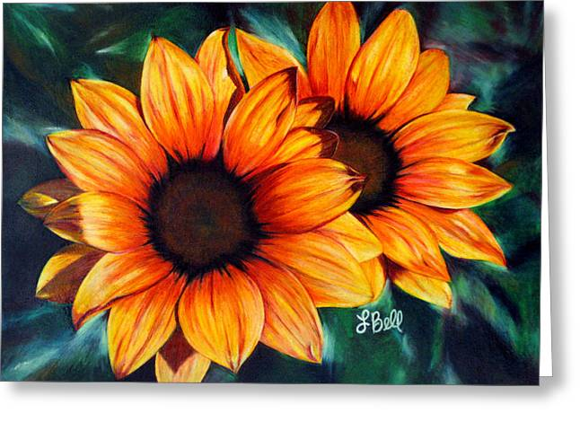 State Flowers Greeting Cards - Golden Sun Greeting Card by Laura Bell