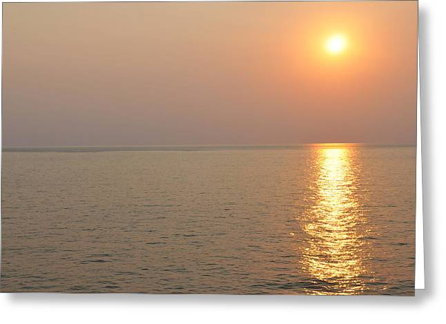 Golden Sunrise Greeting Card by Bill Perry