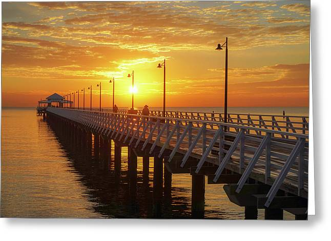 Golden Sunrise Down By The Bay Greeting Card