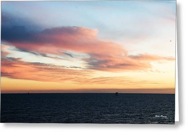 Golden Sunrise II Greeting Card by Bill Perry