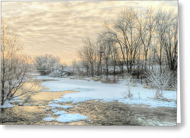Greeting Card featuring the photograph Golden Sunrise Signed by Garvin Hunter