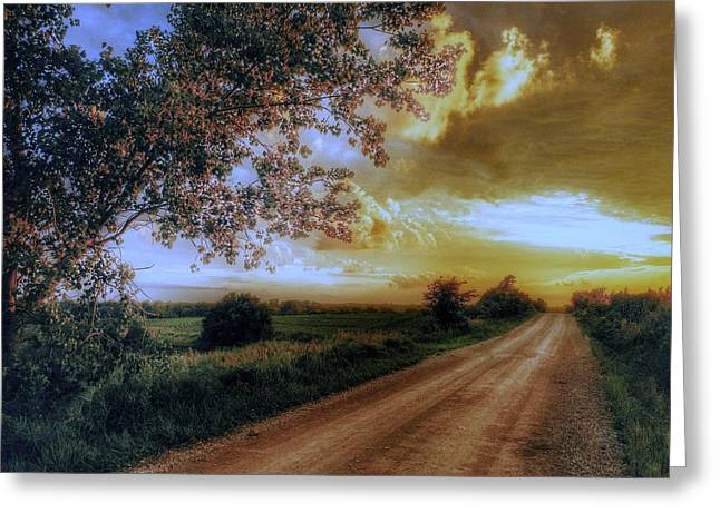 Golden Sunset Greeting Card by Dustin Soph