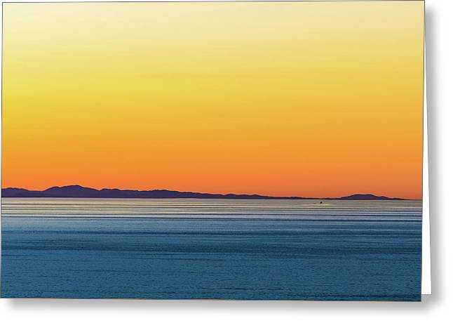 Golden Sunset Series I Greeting Card