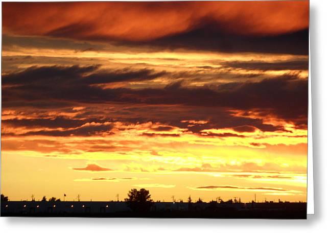 Golden Sunset IIi Greeting Card by Mark Lehar