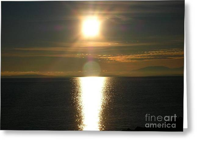 Greeting Card featuring the photograph Golden Sunset by Kim Prowse