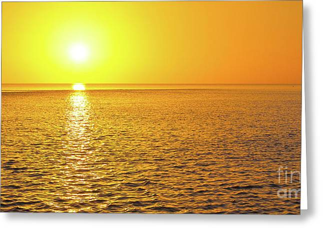 Golden Sunset On The Gulf Of Mexico Greeting Card by ELITE IMAGE photography By Chad McDermott