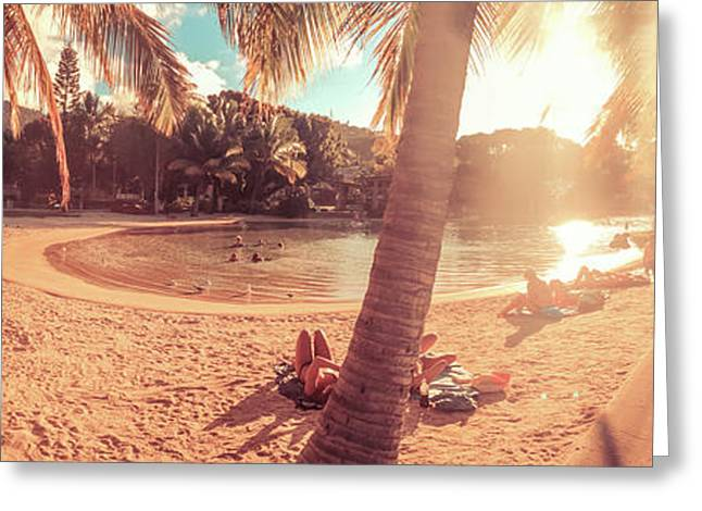 Golden Sunsets Of Airlie Beach Greeting Card