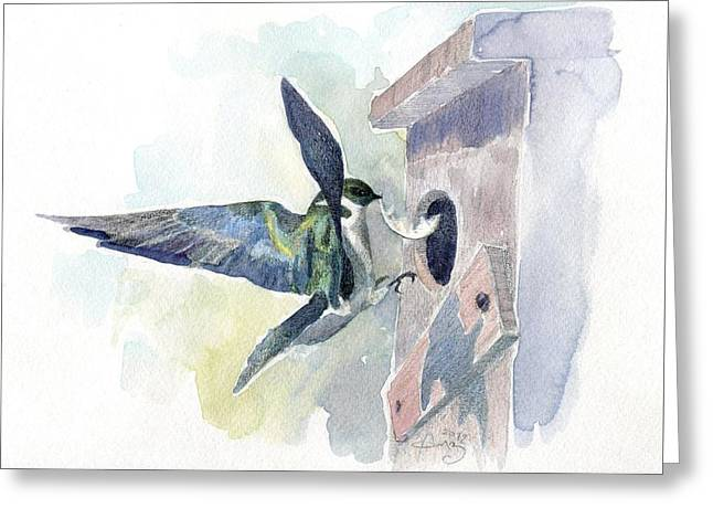 Golden Swallow Greeting Card