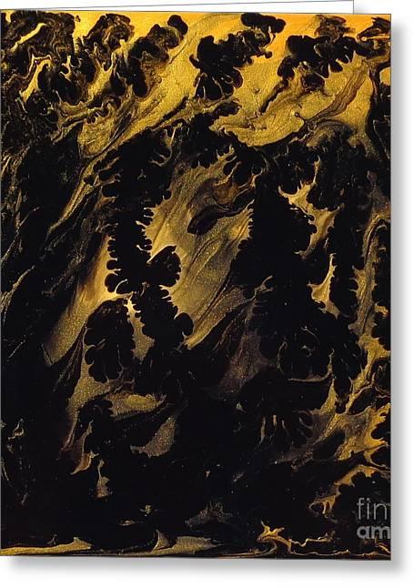 Golden Swirls Greeting Card