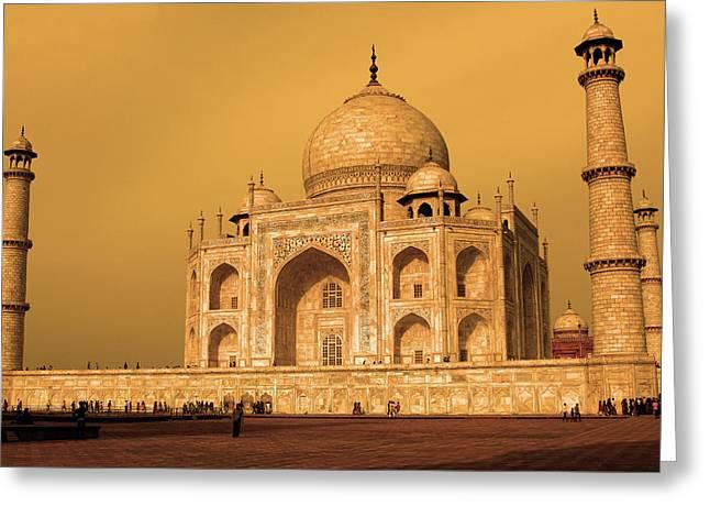 Golden Taj Mahal  Greeting Card