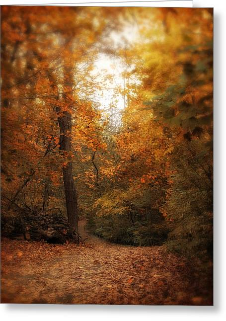 Golden Trail Greeting Card by Jessica Jenney