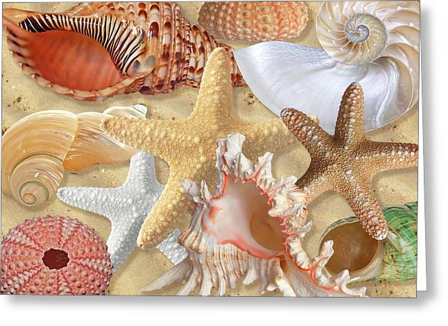 Golden Treasure Of The Deep Greeting Card by Gill Billington