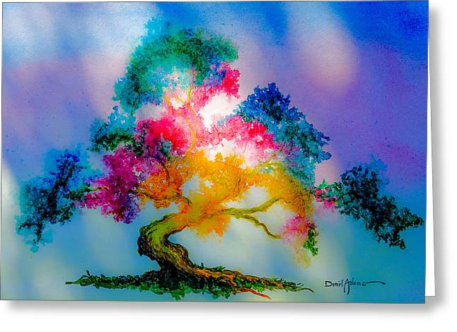Da183 Golden Tree Daniel Adams Greeting Card