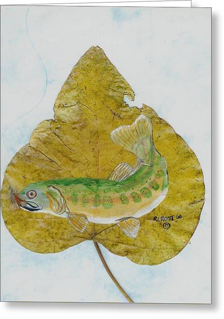 Golden Trout Greeting Card