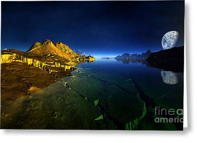 Golden Valley Planet 3 Greeting Card by Heinz G Mielke