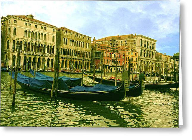 Greeting Card featuring the photograph Golden Venice by Anne Kotan
