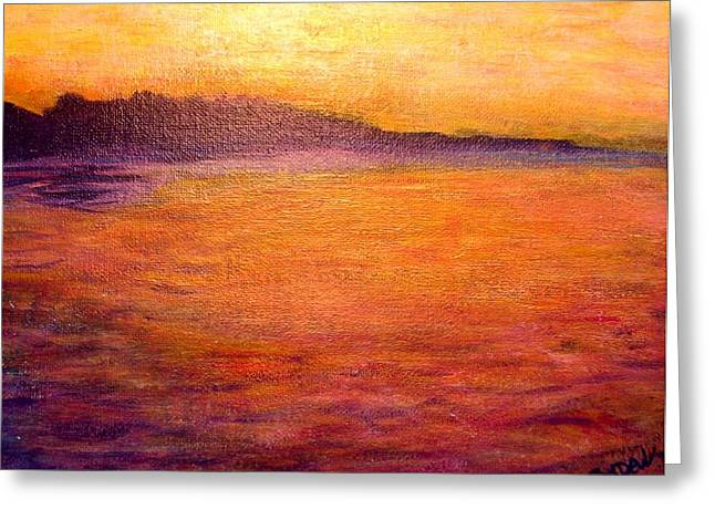 Golden View Greeting Card by Joyce Dell