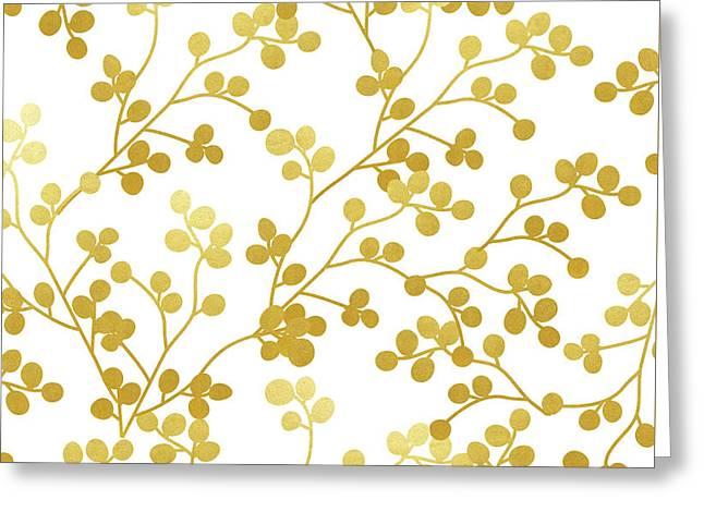 Golden Vines Greeting Card
