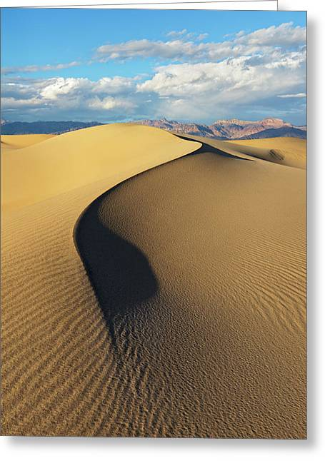 Death Valley - Golden Wave Greeting Card
