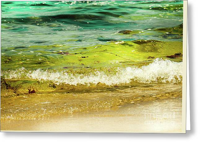 Golden Waves At Pacific Grove California Near Lover's Point Greeting Card