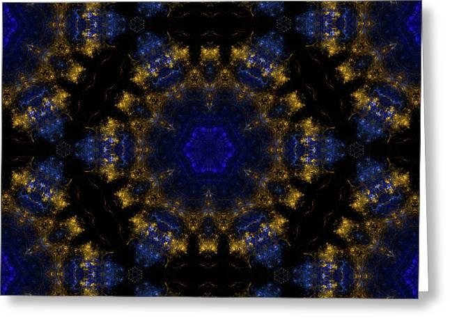 Golden Way Mandala 15 Greeting Card