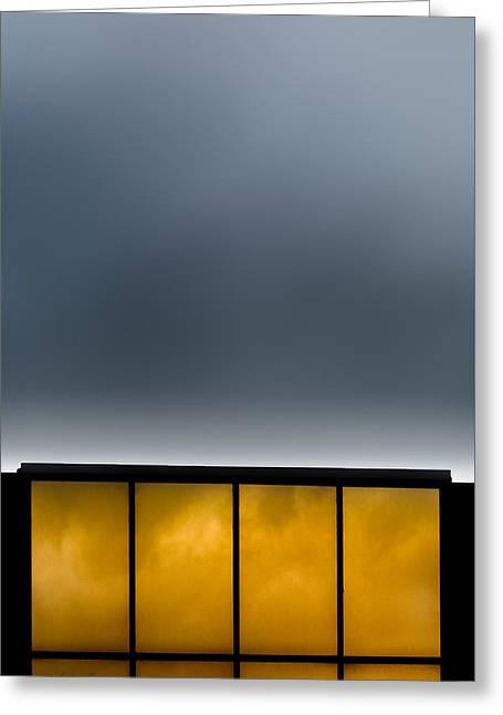 Golden Windows Greeting Card by Bob Orsillo