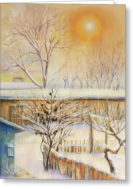 Golden  Winter Morning  Greeting Card