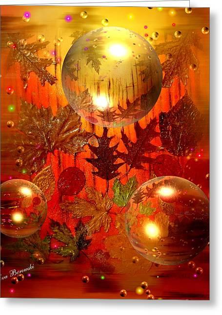 Goldenes Herbst Greeting Card by Eva Borowski